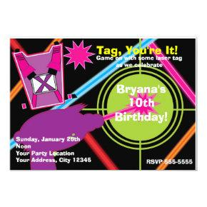 Girls Laser Tag Girl Birthday Party