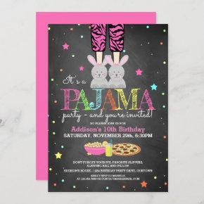 Girl's Pajama Party Birthday