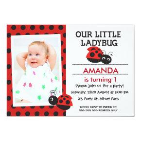 Ladybug birthday invitations candied clouds girls photo ladybug birthday invitations filmwisefo