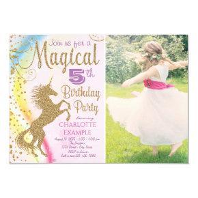 Girls Photo Unicorn Birthday Party