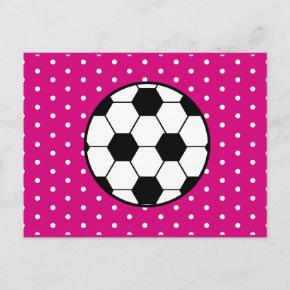 Girl's Soccer Birthday PostInvitations Invitation - Pink