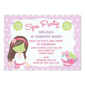 Girls Spa Party Birthday Party Invitation