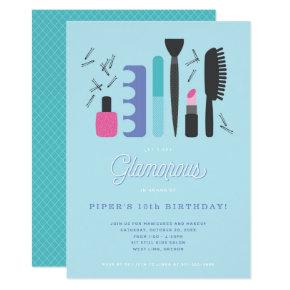 Glamorous Girls Birthday Party Invitation