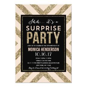 Glamorous Shimmer | Surprise Party Invitations