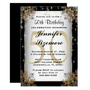Glamourous Birthday Template - 50th Birthday