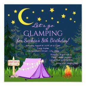Glamping Birthday Party