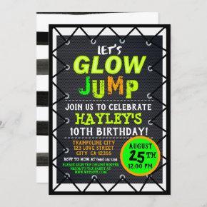 Glow Cosmic Jump & Play Kids Trampoline Park Invitation