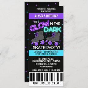 Glow in the Dark Skating Party Invitation