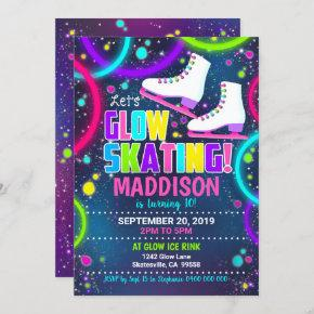 Glow Skate Invitation Ice Skating Invitation