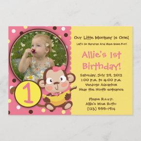 GO BANANAS - Little Monkey Party  GIRL