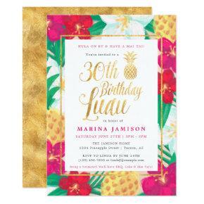 Gold 30th Birthday Luau Party