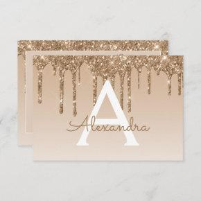 Gold Glitter Sweet 16 Save the Date Invitation