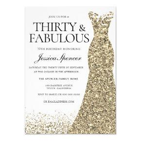 Gold 30th Birthday Invitations – Candied Clouds