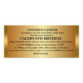 Golden ticket party birthday invitations candied clouds golden ticket birthday party event invitations filmwisefo