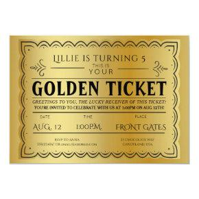 Golden Ticket Style Birthday Party Template