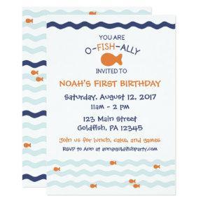 Goldfish Birthday Party Invitations