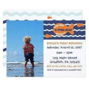 Goldfish Birthday Photo Party Invitations