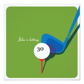 Golf 30th Birthday - Still Swinging! Invitation