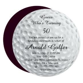 Golf Ball Sports Funny Birthday Celebration Party Invitation
