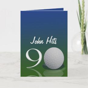 Golf Birthday Invitations For 90 Year Old