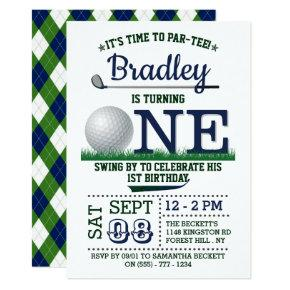 Golf PAR-TEE 1st Birthday Invitation