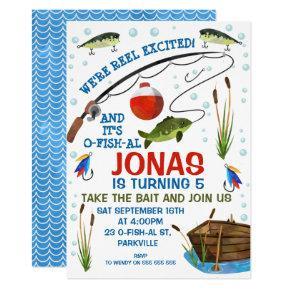 Gone fishing Or Fishing themed Birthday Invitations