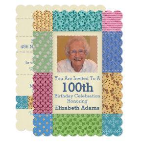Grandma's Quilt Custom Photo | Choose Your Year Card