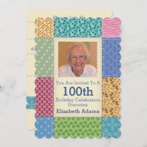 Grandma's Quilt Custom Photo | Choose Your Year Invitation