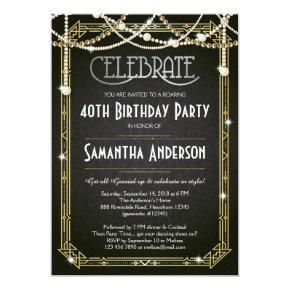 Great Gatsby Birthday invitation / Art Deco invite