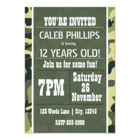 Green Army Camouflage Birthday Party