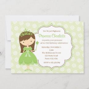 Green Princess Birthday  (Pastel)