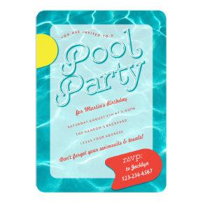 Grown Up Pool Party Invitations