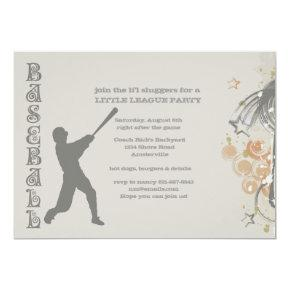 Grunge Baseball Invitations