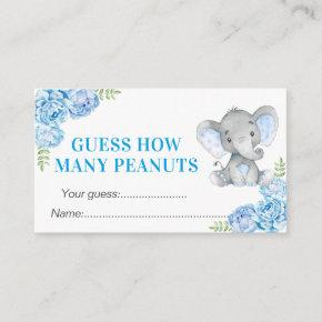 Guess How Many Peanuts Baby Shower Birthday Game Enclosure