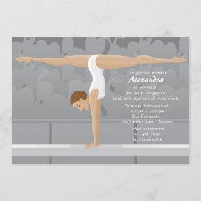 Gymnast Birthday Party Invitation
