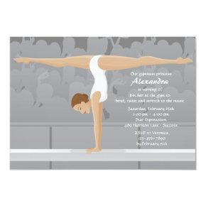Gymnast Birthday Party Invitation