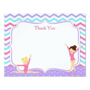 Gymnastic Thank You Notes Card