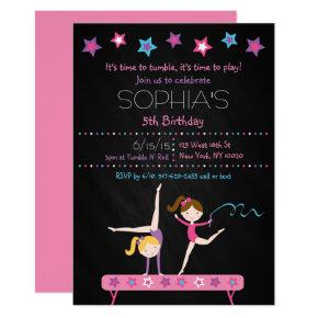 Gymnastics Chalkboard Birthday Card