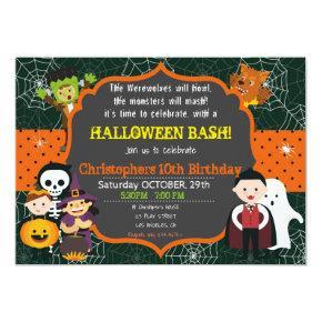 HALLOWEEN COSTUME BIRTHDAY BASH Invitations