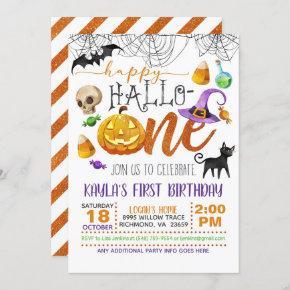 Halloween First Birthday Invitation