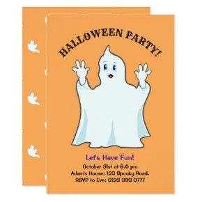 Halloween Ginger Ghost Invitations