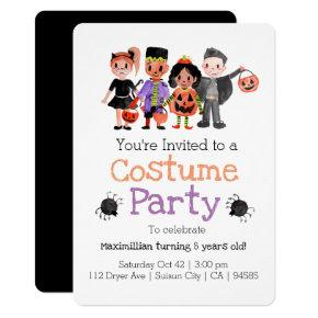 Halloween Kid Birthday Costume Party Invite