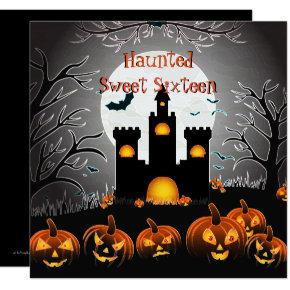 Halloween Sweet Sixteen, Haunted Castle Invitations