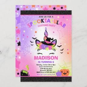 Halloween Unicorn Birthday Invite Halloween Party