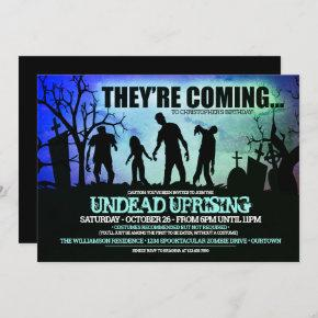Halloween Zombie Birthday Party