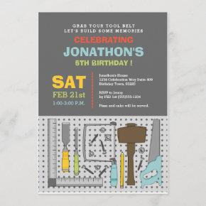 Handyman Tools Birthday Party Invitation