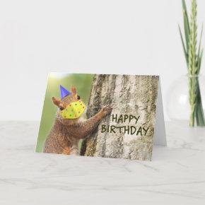 Happy Birthday Squirrel in Coronavirus Face Mask Holiday