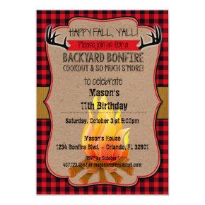 Happy Fall, Y'all! Bonfire Invitations