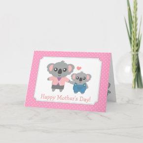 Happy Mothers Day, Cute Koala Bears