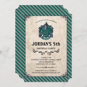 Harry Potter Birthday | Slytherin Invitation